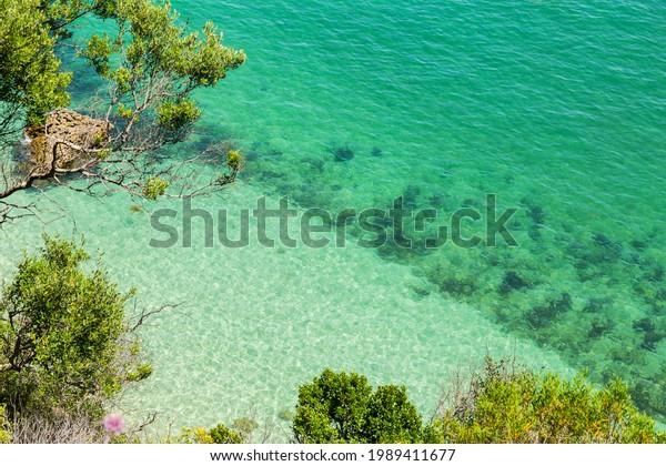Coast of Arrabida Natural Park in Sesimbra, Portugal