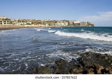 The coast of Atlantic ocean, Gran Canaria, Canary islands, Spain