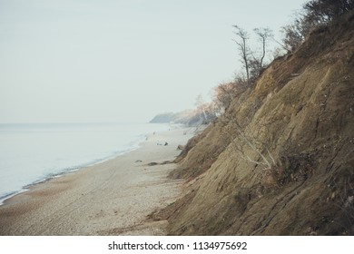 Coast of the Baltic Sea in cloudy weather