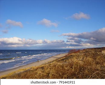 Coast of the Baltic Sea. The Curonian Spit. Winter