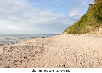 Coast of the Baltic Sea in Poland