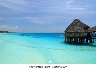 Coast and beach in Nungwi, Zanzibar, Tanzania