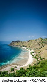 coast and beach view near dili in east timor leste from cristo rei hill monument