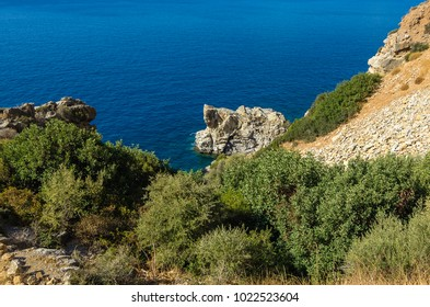 Coast between Agios Georgios und Agios Pavlos in the south of Crete, Greece