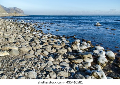Coast of Black sea. January