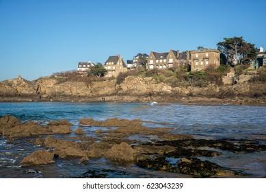 Coast of Brittany at Saint Lunaire near Saint Malo, France