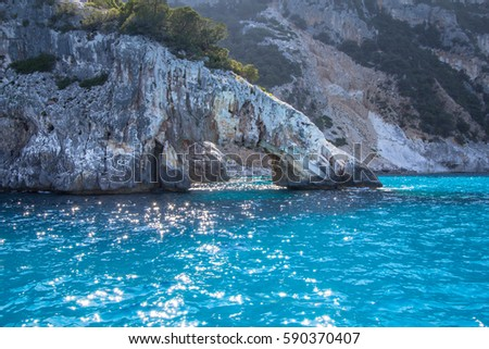 coast cala goloritze on island sardinia stock photo edit now