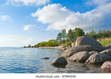 Coast of the Chudsky lake. Russia
