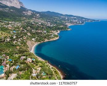coast of Crimea from above