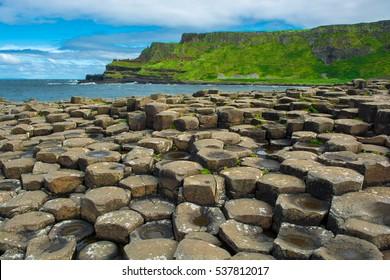 Coast of Giants Causeway in Northern Ireland
