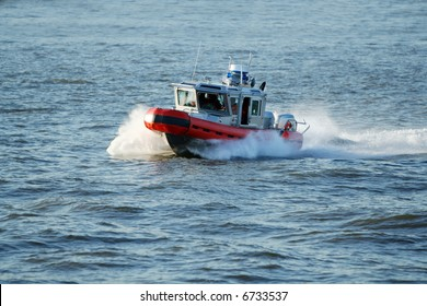 Coast Guard patrol boat rushing to the rescue. [ALL NAMES REMOVED]