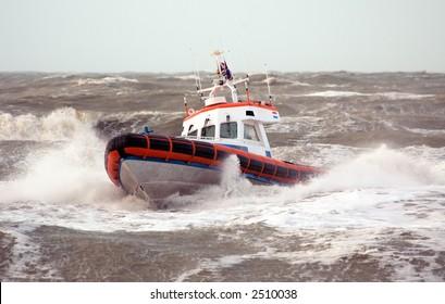 Coast Guard in storm