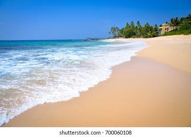 Coast of the Indian Ocean in Sri Lanka
