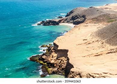 Coast of La Guajira peninsula in Colombia