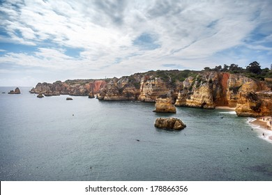 The coast of Lagos, Algarve, Portugal