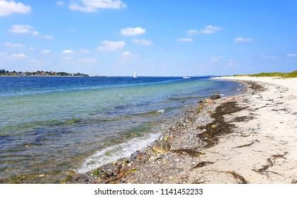Coast line or beach in Denmark