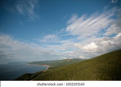 The coast line in Cape Breton, Nova Scotia