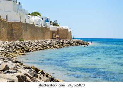 Coast line of Hammamet in Tunisia