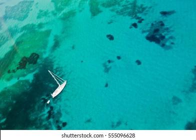 Coast line of Sardinia, Yacht, Wallpapers, seascape