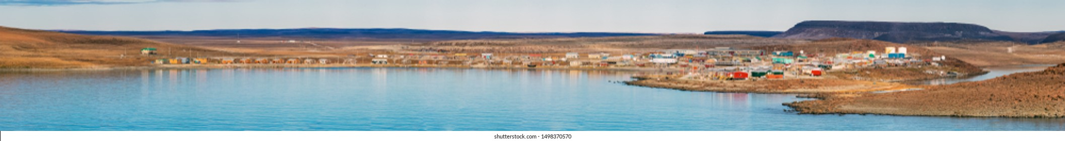 The Coast line of Ulukhaktok located on the west side of VictoriaIsland on the Amundsen Gulf in the  Northwest Territories, Canada.