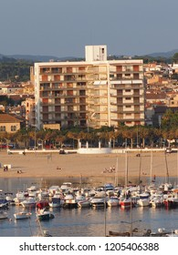 coast line view from Palamos, Spain