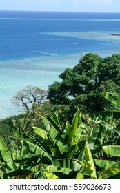 The coast of Mayotte island on France