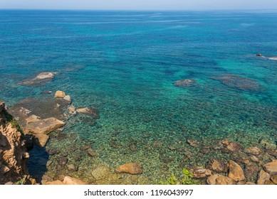 Coast of the Mediterranean at San Marco di Castellabate Italy