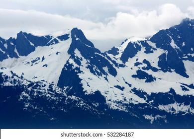 The coast and mountains of Alaska, USA