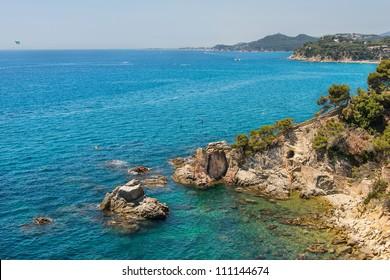 Coast near Lloret de Mar, Costa Brava, Spain