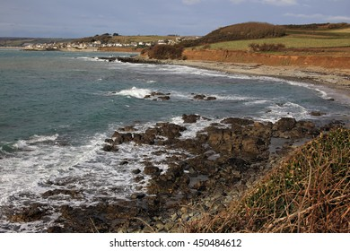 The coast near Marazion, Cornwall, England, UK.
