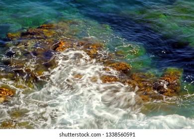 "Coast near Santa Teresa di Gallura - background, northern Sardinia, Italy - ""Costa Smeralda"" famous tourist area."