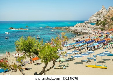 Coast near the town of Capo Vaticano region Calabria - Italy in this photo is not a recognizable face and does not infringe the copyright of third parties
