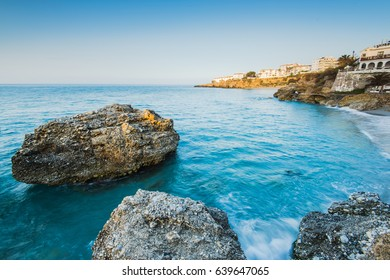Coast in Nerja, Malaga province, Spain