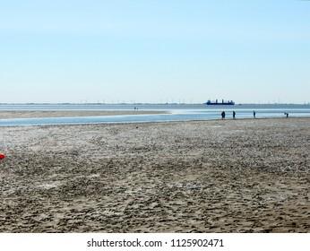 Coast of North Sea at low tide, watts