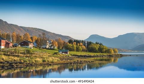 Coast of the Norwegian Sea.Tromso