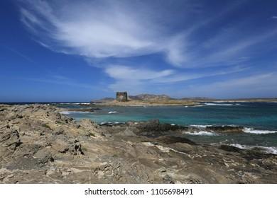 The Coast at Pelosa, Sardinia, Italy