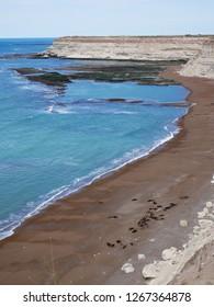 The Coast of Peninsula Valdes, Patagonia Argentina, near the lighthouse of Punta Delgada.