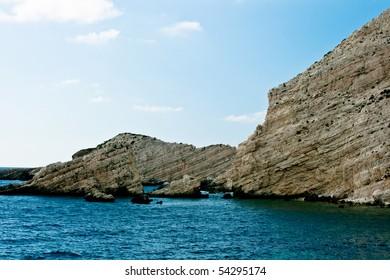 Coast of Petani beach