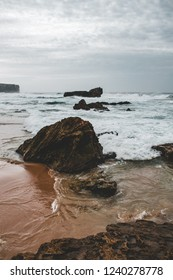 The coast of Portugal captured during november with long exposure photgraphy