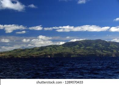 Coast of Punta Delgada, Sao Miguel Island, Azores, Portugal