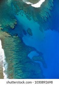 Coast of Reunion Island, air photograph