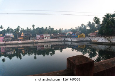 Coast sacred lake in Gokarna. Karnataka, India