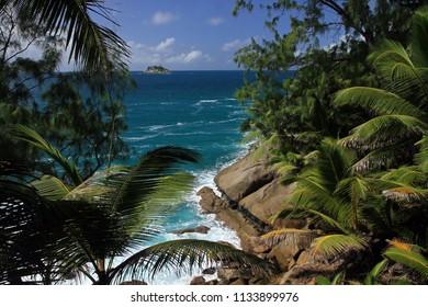 Coast of Sainte Anne Island, Seychelles