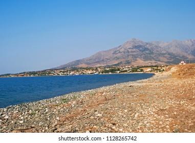 the coast of Samothraki Island, Greece