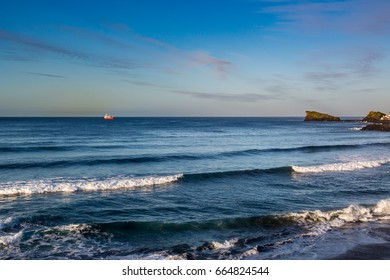 Coast Sao Rogue on Sao Miguel island, Azores archipelago in the Atlantic Ocean belonging to Portugal