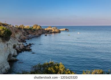 Coast of Sarantaris on the island of Crete, Greece