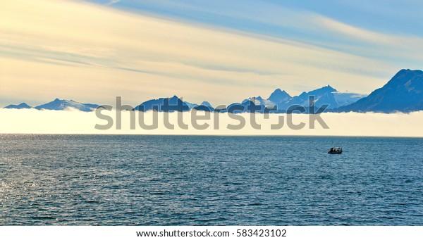 Coast and sea near Seward, Alaska, USA