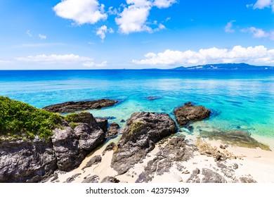 Coast, shore, landscape, seascape. Okinawa, Japan, Asia.