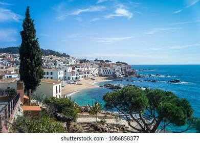 Coast of Spain. Catalonia. Calella de Palafrugell