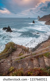 Coast at Taganana in Tenerife island - Canary Spain